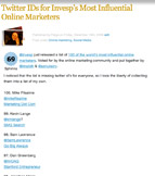 Twitter IDs for Invesp's Most Influential Online Marketers