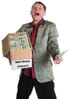 Man with a box of money