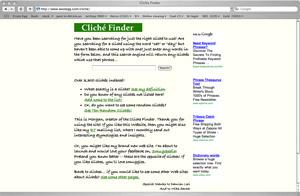Cliche Finder