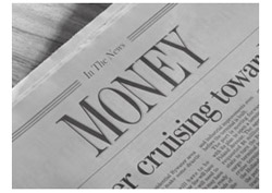 Newspaper article titled 'Money'